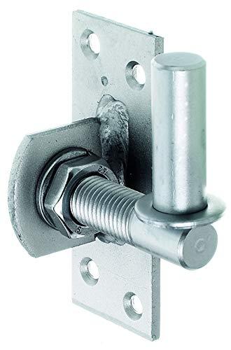 GAH-Alberts 361488 Kloben zum Anschrauben | verstellbar um 20 mm | Edelstahl | Dornmaß Ø16 mm | Platte 100 x 40 mm