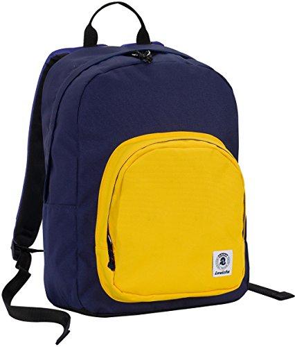 invicta ZAINO OLLIE PACK - Giallo Blue - tasca porta pc padded - scuola e tempo libero americano 25 LT