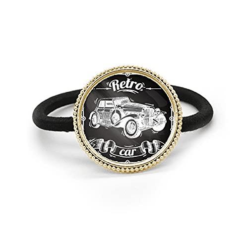 Corbata de pelo de plata pintada a mano del metal del modelo de los coches clásicos y tocado de goma de