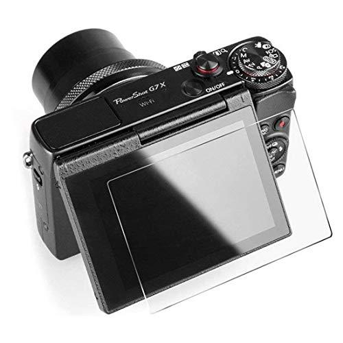 AWADUO Protector de pantalla para Canon PowerShot G9X Mark II – LCD cristal templado para Canon PowerShot G9X/G7X Mark II/G5X/Fujifilm X100