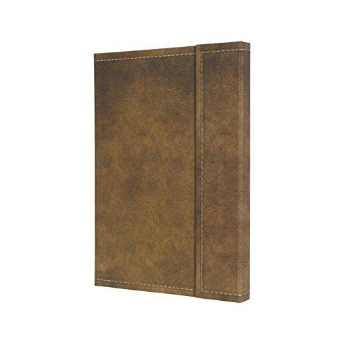 SIGEL CO607 Notizbuch, ca. A5, kariert, Design Vintage, Leder-Look, Magnetverschluss, braun, 194 Seiten, Conceptum - große Auswahl