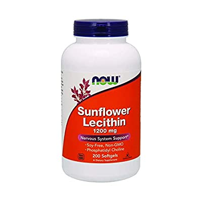 Sunflower Lecithin, 1200 mg, 200 Softgels - Now Foods