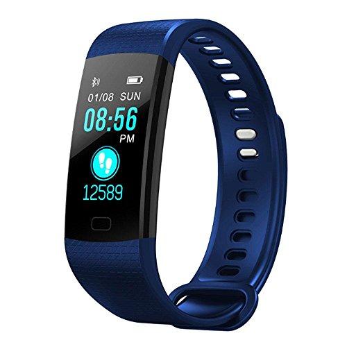 KOBWA Fitness-Tracker mit Schrittzähler, Aktivitätstracker Uhr mit Farbdisplay, wasserdichte Schrittzähler-Uhr mit Herzfrequenz-Monitor, Schrittzähler, Armbanduhr für Kinder Damen und Herren
