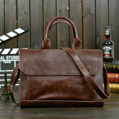 Mdsfe Bag men's Leather briefcase Male man laptop bag natural Leather for men Messenger bags men's briefcases-6