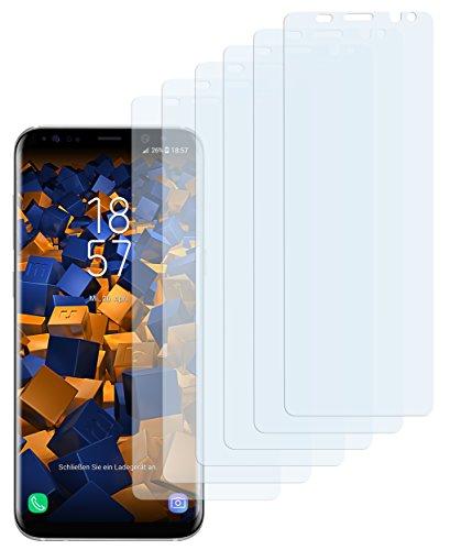 mumbi Schutzfolie kompatibel mit Samsung Galaxy S8 Folie klar, Bildschirmschutzfolie (6x)