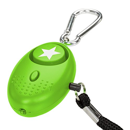 tiiwee Taschenalarm Panikalarm Selbstschutz 130dB mit LED Licht - Grün
