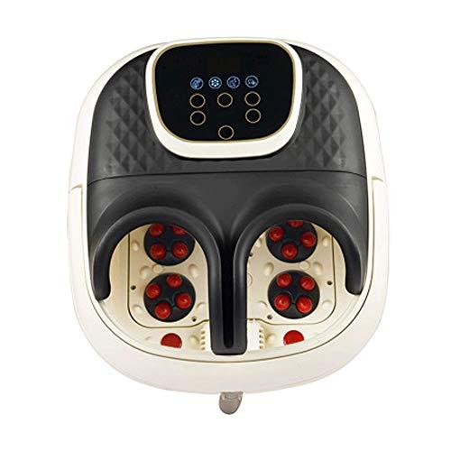 Foot Spa Massager Baño De Pies Con Vibración Automática De Burbujas De Calor Y Rodillos De Masaje En Forma De T, Temperatura Ajustable Y Función De Apagado Automático Para Relajar Los Pies