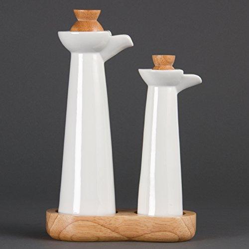 Olympia Whiteware vinagre y aceite de porcelana Pot Cocina V