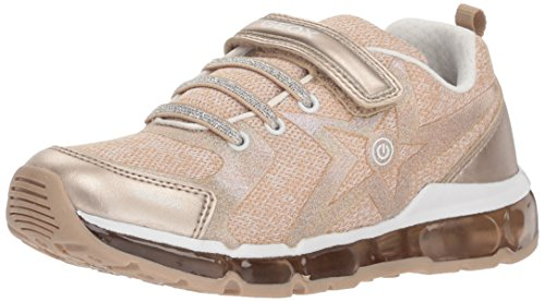 Geox Mädchen J Android Girl B Sneaker, Gold (Platinum/White), 34 EU