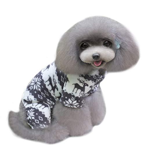 QIYUN.Z Vier Beine Schwarz Weiß Samt Schnee Rehe Weihnachten Hoodie Hund Pullover Winter Warme Jacke Haustier Hunde Shirts Hoodies S M L XL XXL