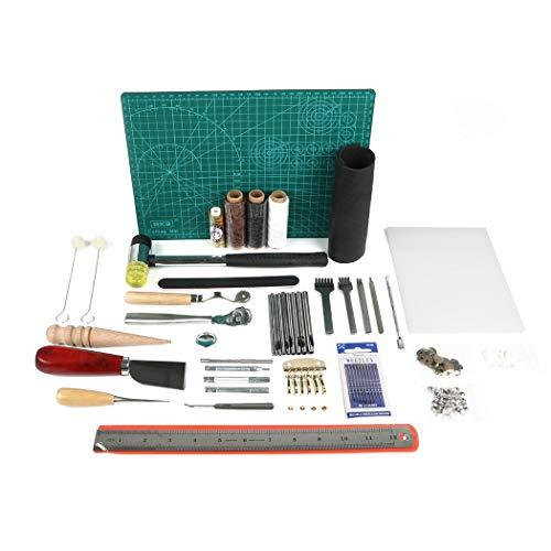 Amon Tech 44 Pcs Leathercraft Basic Tools Kit