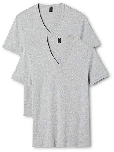 G-STAR RAW Herren Base V T S/S 2-Pack T-Shirt, Grau (Grey Htr 906), XL