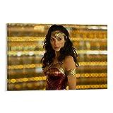 DRAGON VINES Wonder Woman League - Pintura para pared (60 x 90 cm), diseño de superhéroes