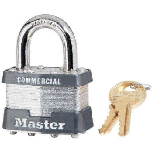 Master Lock 1KA-2179 1-3/4 Laminated Steel Padlock Keyed Alike To Key #2179, K1 Key Blank 4 Pin