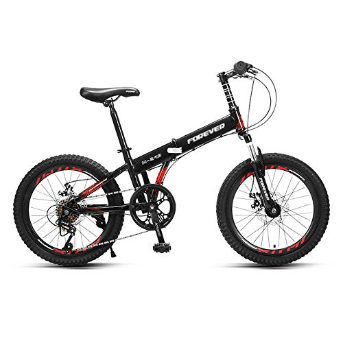 Mountain Bikes, Off-Road Variable Speed Bikes, 20-inch Tires, 6-Speed, High-Carbon Steel Foldable Frame, Double Disc Brakes and Shock-Absorbing Bikes, Suitable for Adults and Teenagers/A/As