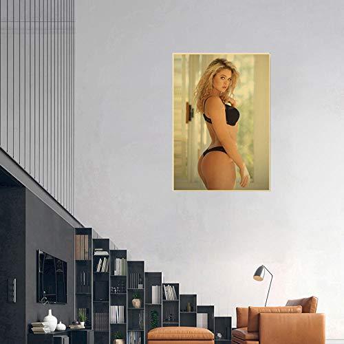 WKAQM Sexy Big Butt Poster Prints Sexy Bikini Women Canvas Wall Art Sexy Hot Girl Big Ass Wall Painting Bar Cafe Bedroom Picture Wall Art Decor Sin Marco Z-5403
