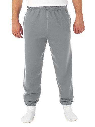 Jerzees Super Sweats Pantalon de survêtement à poches en coton 50/50 pour adulte Taille M/bouleau - Gris - Medium