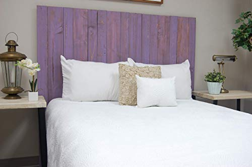 Lavender Headboard Twin Size Weathered, Hanger Style, Handcrafted. Mounts on Wall. Easy Installation