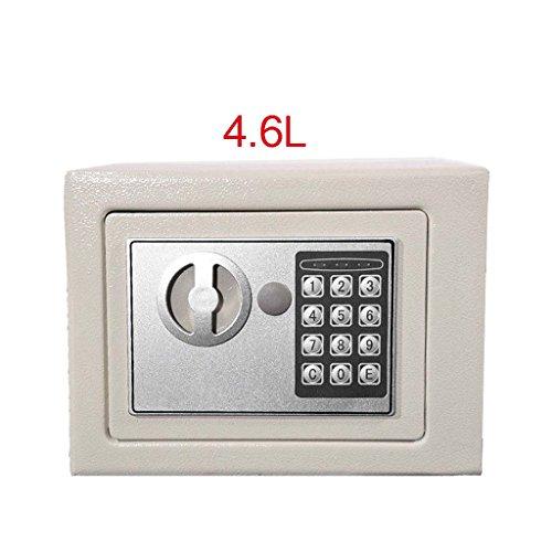 4.6l Digital Steel Safe elettronico di sicurezza Home Office denaro contanti cassetta di sicurezza, bianco