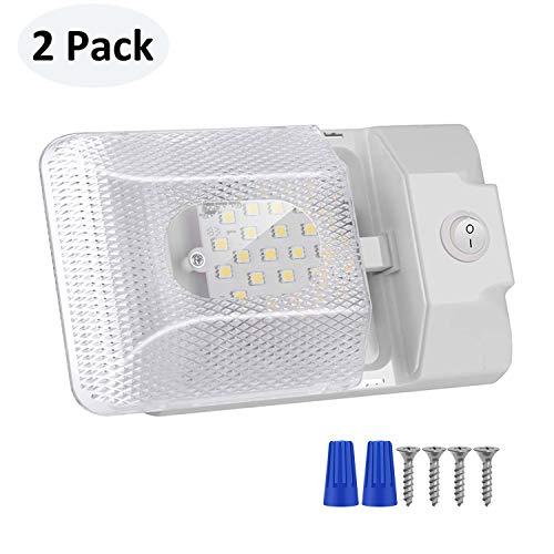 kriogor 12V Plafón, 4500K LED Desmontable Interior iluminación Coche con Interruptor para...