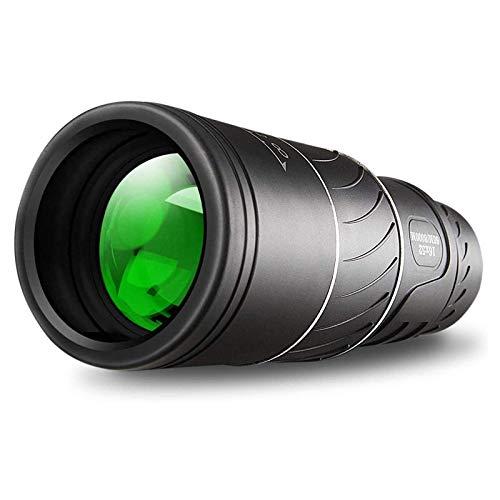SKYAE Impermeable 16x52 Monocular Dual Focus Zoom óptico Telescopio, visión Diaria y Nocturna y visión Nocturna Casi Dura, Duradera y Clara FMC Bak4 Prism Dual Focus, obse Black