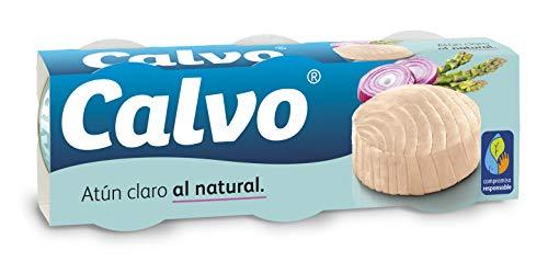 Calvo Atún Claro al Natural, 3 x 80g