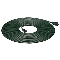 16-gauge, 3-prong, grounded cord for outdoor or indoor use Vinyl covering protects against moisture, abrasion, and direct sunlight Rating: 13 Amps, 1625 Watts, 125 VAC All copper wire construction 3-prong plug and  single socket on ends Ideal for hom...