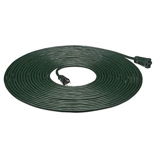 Amazon Basics 16/3 Vinyl Outdoor Extension Cord - Green, 50 Foot