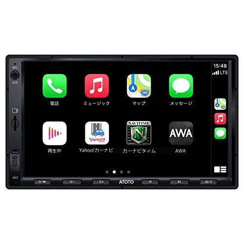 ATOTO F7 標準7in / D-Din F7G2A7SE IPS カーステレオレシーバー、Android Auto&CarPlay接続、Mirrorlink / AutoLink、高速電話充電、Bluetooth、LRV付きHDリアビュー、最大2TB SSDおよび512GSD