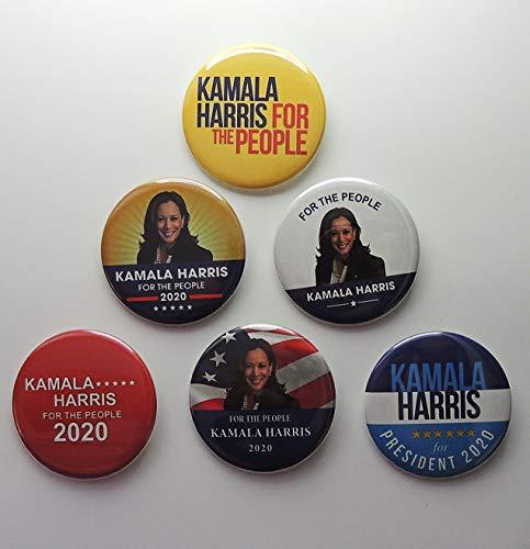 Kamala Harris For President Set of 6 Campaign Buttons (HARRIS-801FBA)