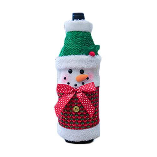 Fiaoen Bolsa de botella de vino de Navidad suéter botella de champán cubierta para fiesta botellas decoraciones de Navidad especial