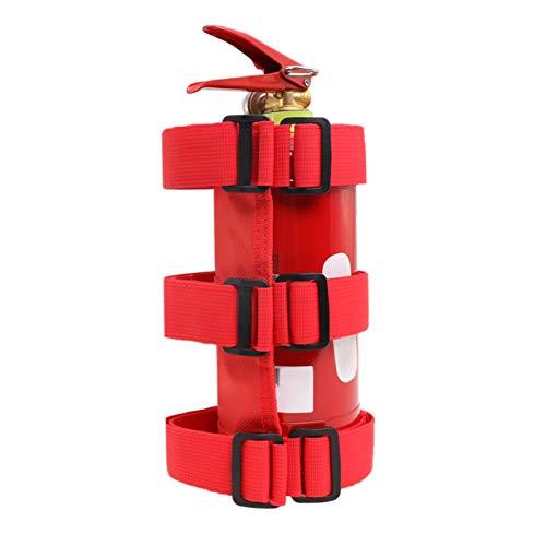 VXAR Fire Extinguisher Holder Canvas Adjustable Roll Bar Mounted for Auto Car UTV(Red)