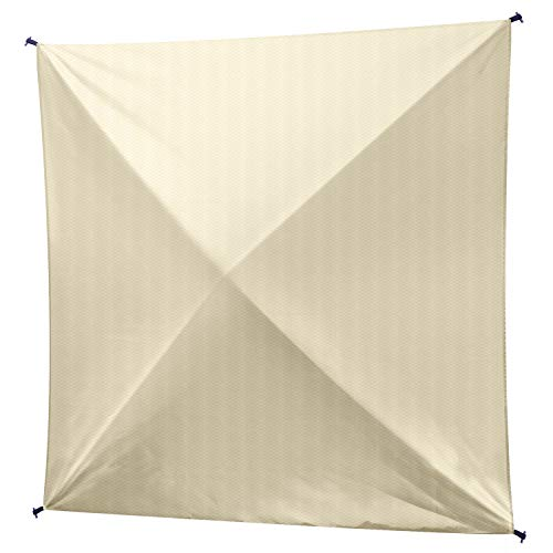 XGEAR Upgrade Version Pop Up 140' x 140' Camping Screen House Canopy Instant Gazebo with Upgrade Premium Rip-Stop 230T Fabric (Beige Panel)