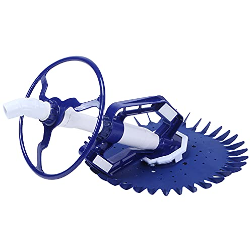 Liujaos Poolreiniger Staubsauger, leistungsstarker automatischer geräuscharmer stark saugender Poolreiniger für Schmutzbodenstufen für unterirdisches Schwimmbad