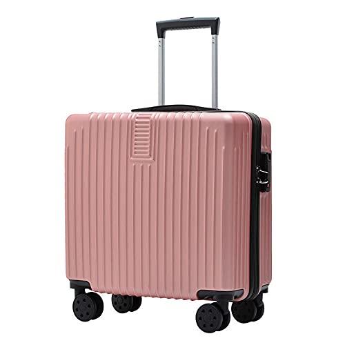Homeluck Maleta con contraseña de 18 pulgadas de 4 ruedas pequeña ligera caja de viaje de equipaje
