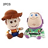 L&C Toy Story Peluche Sheriff Woody Y Buzz Lightyear Muñeca Suave Peluche Mejor Niños 20cm/2pcs