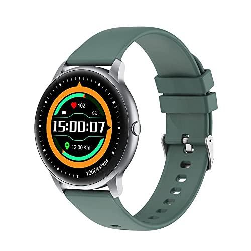 FZXL Reloj con 12 modos deportivos/24 horas Bio Frecuencia Cardíaca/Análisis de Sueño/IP68 Impermeable BT5.0 Smartwatch Sports Act