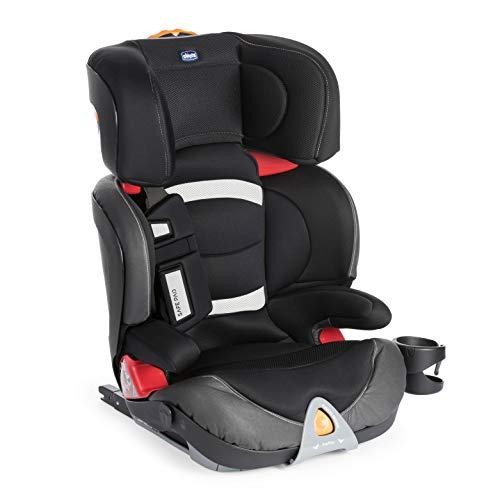 Chicco Oasys 23 FixPlus EVO Silla Coche ISOFIX Reclinable Grupo 2/3 Niños 15-36 kg, de 3-12 Años, Fácil de Instalar, con Protección Lateral, Safe Pad, Ajustable en Altura y Anchura - Negro (Jet Black)