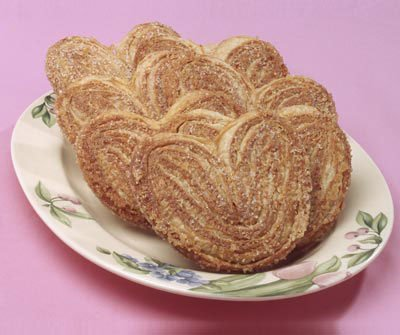 Palmiers Gourmet Cookies (Box of 8) Handmade in a Bakery - These Sweet Treats make a great pairing w