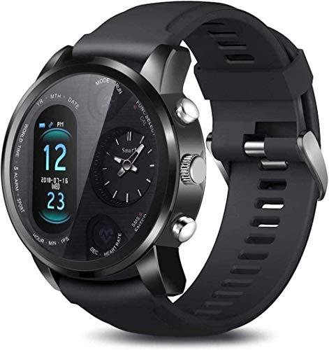 Reloj inteligente de fitness 1 6 pulgadas pantalla grande sueño deportivo doble zona horaria inteligente información sedentaria recordatorio de llamada desgaste diario negro