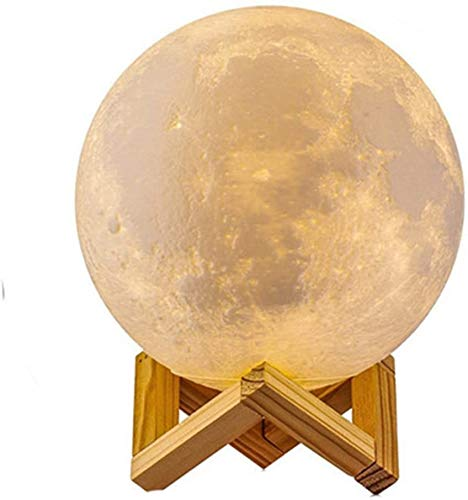 Full Moon Lamp 3D LED Night Modern Floor Lamp Dimmable Touch Control Brigntness USB Charging White/Warm LightMoon lamp with Stand