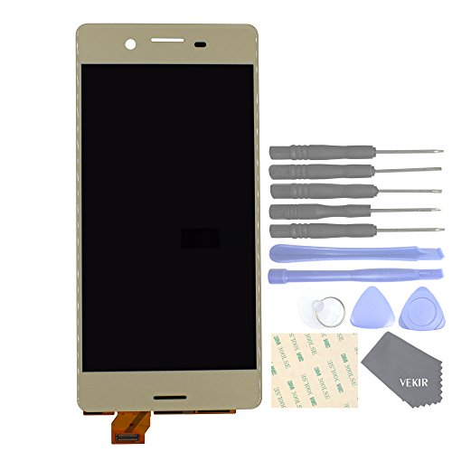 VEKIR Touch Display Digitizer Screen Replacement para Sony Xperia X F5121 F5121 F5122(Lime Gold)
