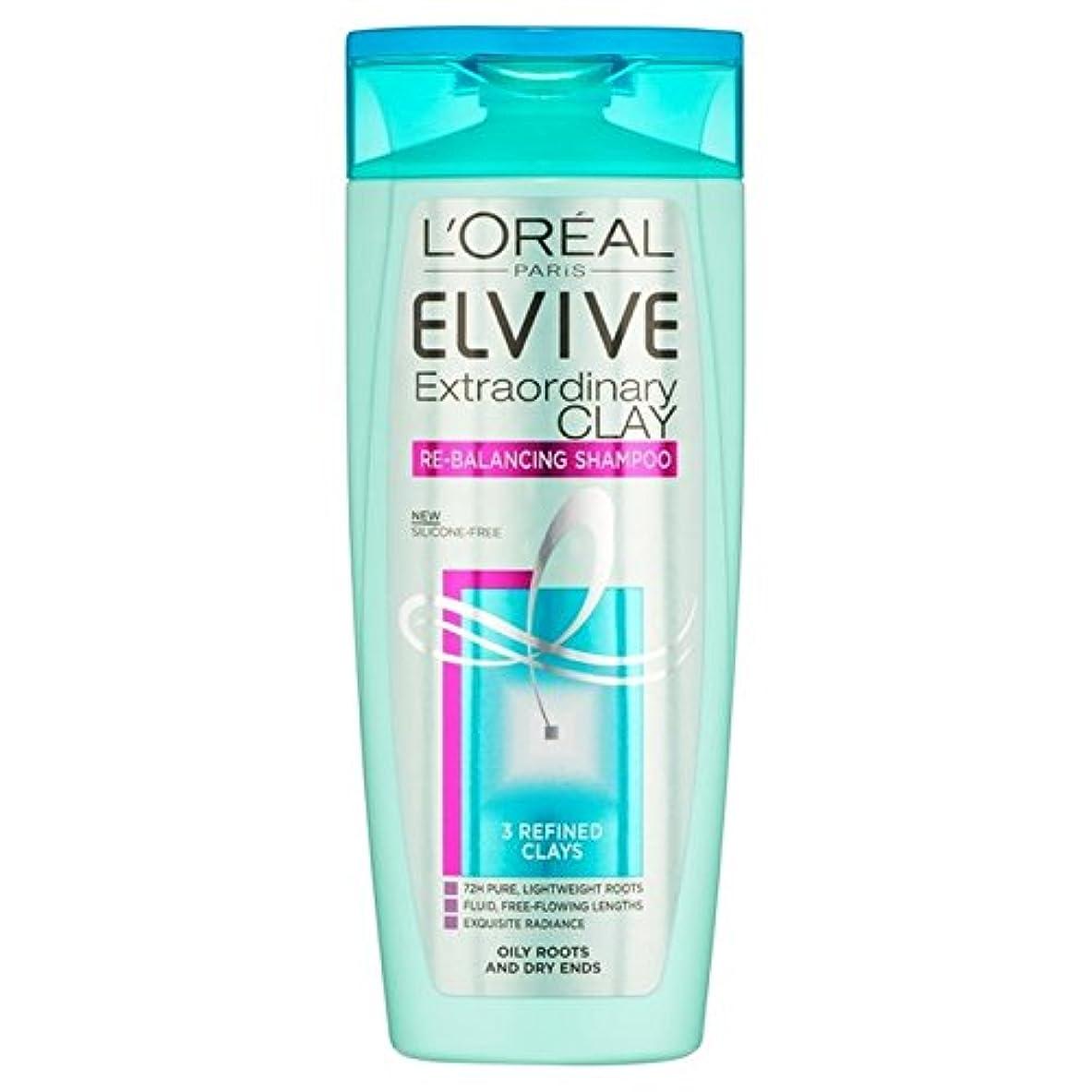 医薬ヘッジ小屋ロレアルパリ臨時粘土再バランシングシャンプー250 x2 - L'Oreal Paris Elvive Extraordinary Clay Re-Balancing Shampoo 250ml (Pack of 2) [並行輸入品]