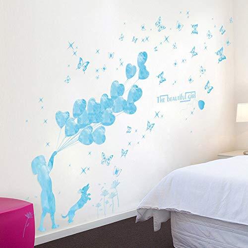 Etiqueta de la pared extraíble de bricolaje Etiqueta de la casa de la familia Arte mural Decoración del hogar Gatos Ver Dormitorio Sala de estar Artes Murales Decoración Recibir tamaño 60 * 90cm