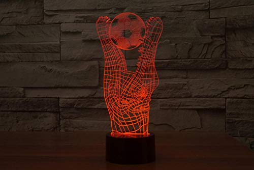 3D Night Light for Kids Crocodile Bites The Ball Table Lamp with 7 Colours Changing and Remote Toys for Boys Boy Gifts
