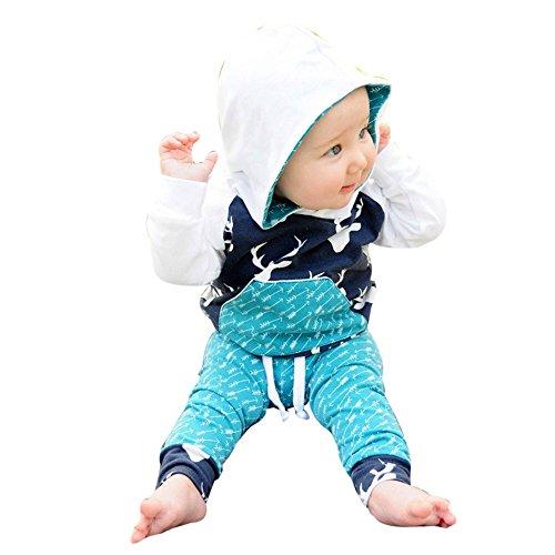 SANFASHION Garçon Unisexe Imprimer Sweat Pull Enfants Pantalons Jogging Hoodies Sweat Shirt Survêtements de Sport Jumper Hip Hop Vêtements Streetwear Capuche Hauts Sportwear