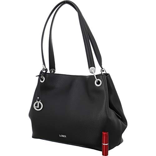 L. CREDI Damen Shopper Ebony Shopper