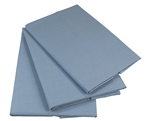 KMP know how in modern printing Bettlaken Betttuch Haustuch 100% Baumwolle ohne Gummizug viele Uni Farben (160 x 200 cm, Grau)