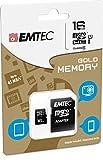 EMTEC 16 GB Class 10 Mini Jumbo Extra MicroSDHC Memory Card with Adapter