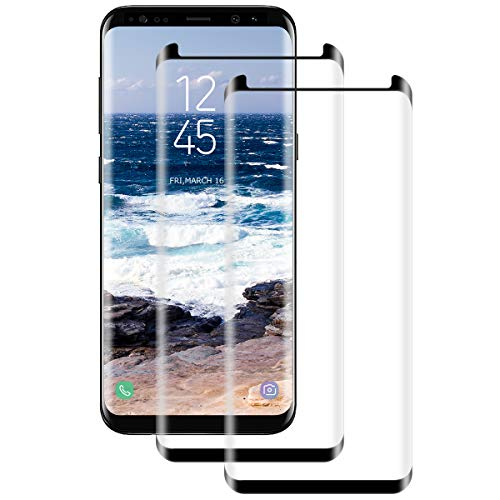 [2 Stück] Schutzfolie für Samsung S8 Displayschutzfolie, Volle Abdeckung, 9H gehärtetes Glas, Anti-Kratzer, Anti-Öl, Samsung Galaxy S8 Panzerglasfolie
